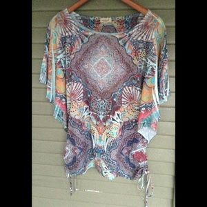 One World L Butterfly Sleeve Mosaic Prism Print
